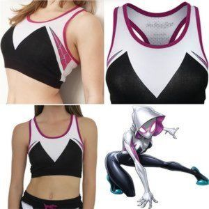 Marvel Spider Gwen sports bra crop top NIP NEW